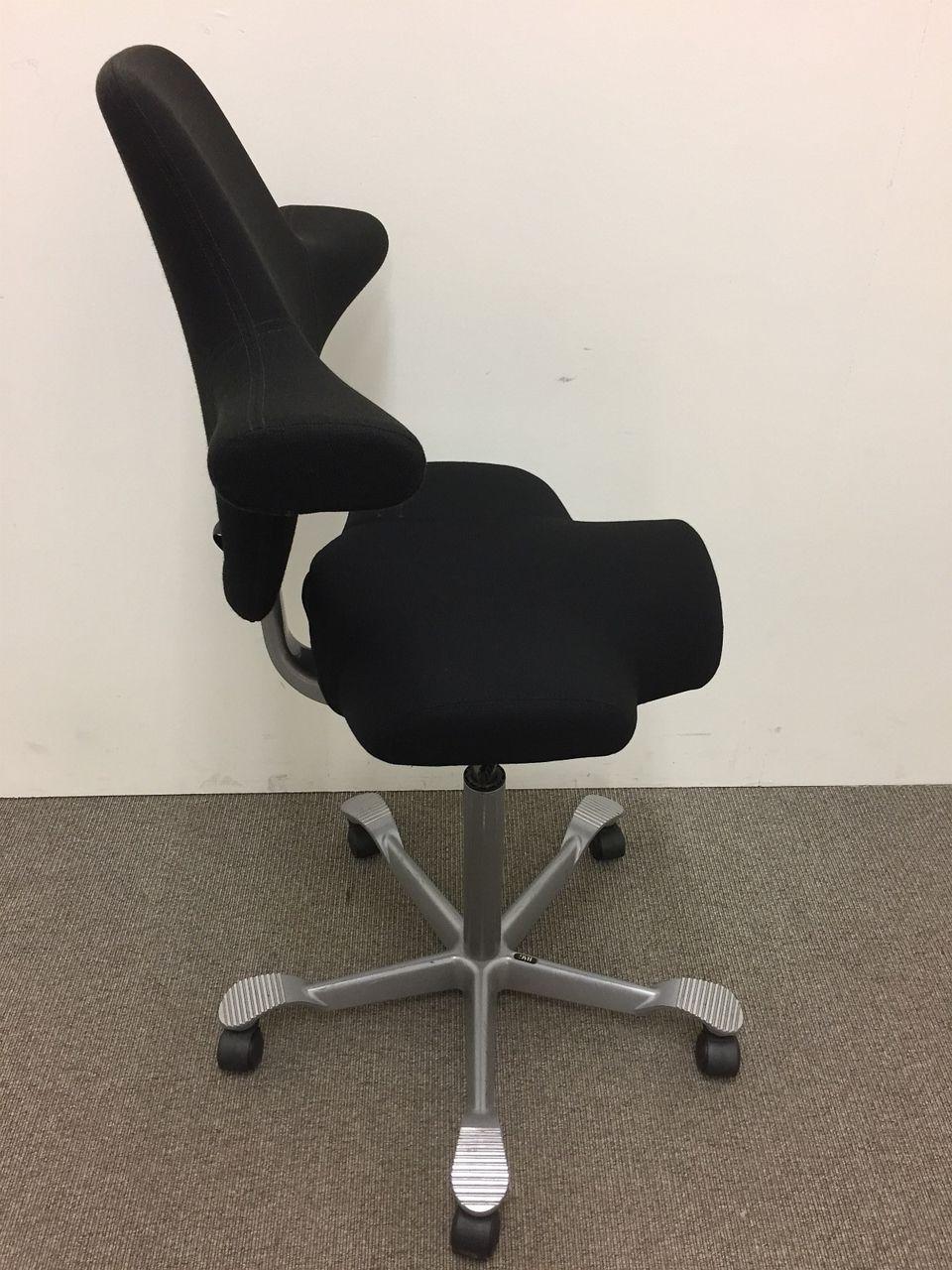1 stk Håg Capisco kontorstol med sort trekk og stepup